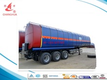 Bitumen /pitch/asphalt/Oiled Tank Trailer Transportor with vapour heated /hot oil heating/burning petrol heated