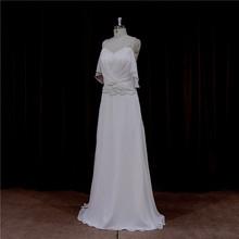Factory direct ruche sash bridal dresses organza