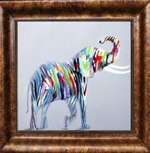 New design handmade animal oil painting for living room