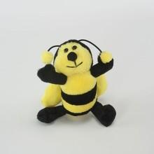 customized OEM design realistic plush bee toys