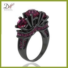 Daihe RN4752 Black wedding jewelry men engagement ruby ring