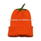 Hallowmas Funny Child Acrylic rib knitting Pumpkin hat beanie