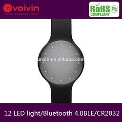 hot sale bracelet misfit shine alike supplier, 12 LED top smart bracelet health sleep monitoring in china