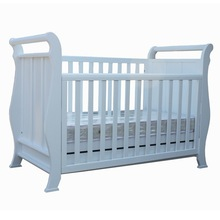 White 3 in 1 pine wood baby crib / baby cot / baby bed BC-002