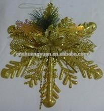Plastic Christmas Decoration/ Snowflke Shaped Ornament