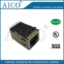 10/100 BASE-TX single port (1x1) Tab-UP Intergrated Magnetics shield female rj45 smt connector