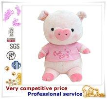 Lindo peluche de felpa cerdo juguetes de los animales, Hucha de peluche