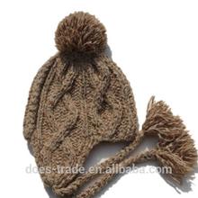 ladies ear kid children bombom winter knit hat cap