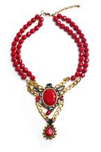 trend handmade red bead necklace jewelry 2015