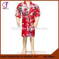 2302 Silk Satin Cheap Girls Pink Bathrobes