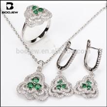 artificial american diamond jewellery, jewelry set with green stone
