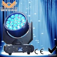HOT sale!!!Professional Zoom 19*15W 4-in-1 rgbw dj equipment led mini moving head wash