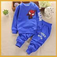 New Designs American Hot Selling Children Spring Wear Wholesale Kids Spider-man Clothing Set ZZJ-CO-65