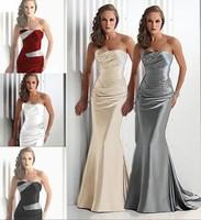 Send fast delivery Sweetheart Sleeveless Royal Blue Burgundy Mermaid Gray Long Evening Dresses 2015 Vestidos De Wholesale
