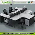 mais populares adaptados design de decoração de mesa de escritório de designer de madeira