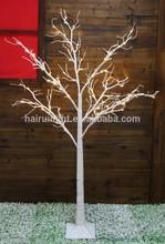 white snowy led tree light