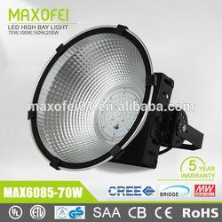 Modern design CE, RoHS, CB, SAA, UL, DL Mean well 70w led high bay light