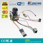 Fish eye camera module 802.11 B /G/N wifi p2p ip camera module