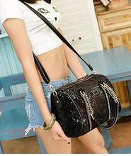 Beautiful bling classical PU handbags Korean wholesale girls handbag