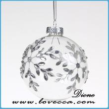 Blown Glass ball Christmas Ornament,blown glass christmas led globe