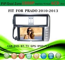 car gps with sirf star v fit for Toyota Prado 2010 - 2013 with radio bluetooth gps tv pip dual zone