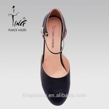 MW002 black suoer leather fiber Ladies Modern Shoes