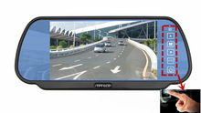 DC 12V Color 7 Inch TFT LCD Car Rearview Reverse Monitor With Touch Key