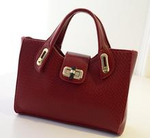 Alibaba supplier fashion knit PU shoulder bag Wholesale fancy women bag