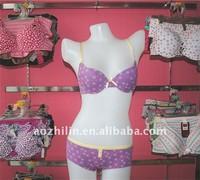 Girl's Cotton Printing Underwear Set Elastic Bra and Panty