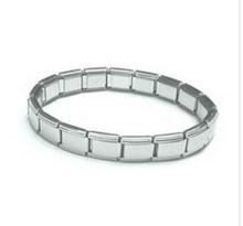 stainless steel 18 link Matte 9mm Italian Charm Starter link bracelet S6-0041