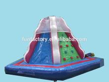 Inflatable climbing wall, rock climbing wall