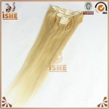 honey blonde european hair extension clip in sexy staight texture european Clip in hair extensions european blonde virgin hair