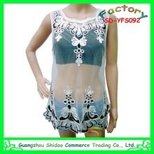 Wholesale women latest design elegant ladies blouses organza fabric top fashionable women blouse