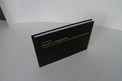 Hot Stamping Leather Book Cover Design Logbook, High Quality Printing Book in China
