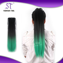 Alibaba China Suppliers pony tail/synthetic draw string pony tail