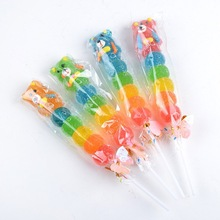Individually packed fruit flavour jelly ball lollipop gummy lollipops