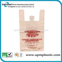 custom shopping plastic vest shopper T-shirt bag