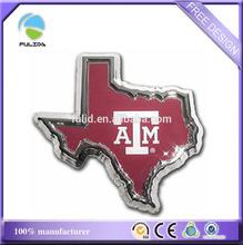 America Texas state city map shaped epoxy stick on ABS plastic auto car emblem