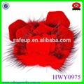 vermelho brilhante flores de tecido grosso handmade animal forma de flor da sapata
