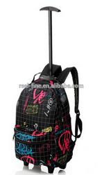 Hot Sale!2015 Shopping Festive Travel Trolley Backpack Women And Men Rolling Backpacks Designer Brand luggage Bags