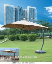 aluminium and stainless big bend cantilever parasol patio umbrella