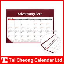 High Quality Unique PVC Leather Monthly Desk Planner Calendar
