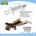 iyi yapılmış oyuncak peluş köpek ile doldurulmuş hayvanlar halat içinde