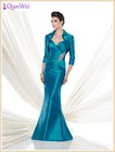 2015 new fashion strapless ruched sweetheart mermaid teal mother of the bride dresses with delicate handmade beaded applique