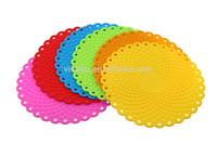 polka-dot double side lace round shape anti-slip custom silicone baking mat