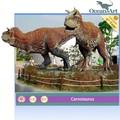 vida de tamanho ao ar livre do jardim escultura de dinossauro