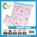 75% ahorrar espacio y pe pintado de vacío bolsa de almacenamiento para las mantas