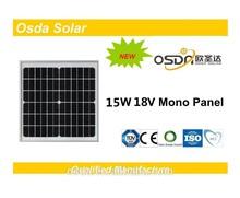 Photovoltaic 15W Mono Osda Solar Panel price per watt solar panels