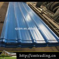 zinc aluminium coated color coated prepainted metal roofing steel sheet
