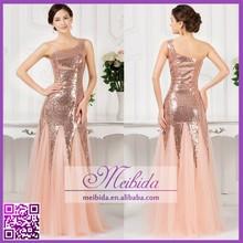 China Supplies Full Length Mermaid Sequin Prom Dress China Factory 2015